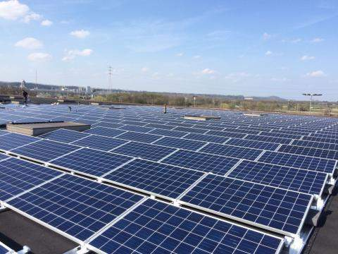photovoltaic panels on the roof of Vise plant