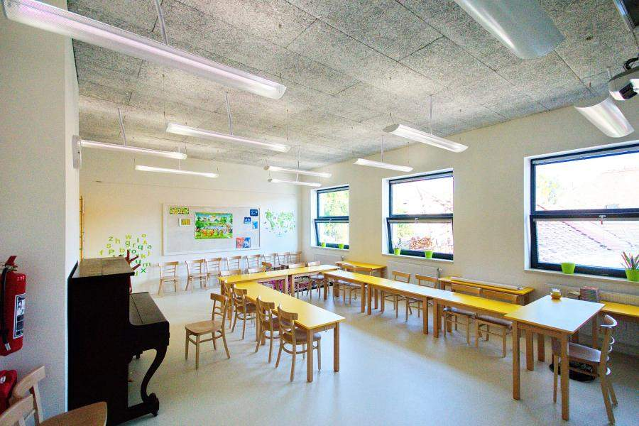 Heraklith acoustic boards in Elementary School Hovorcovice