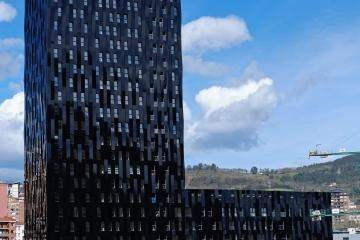 The first of four towers in Bilbao is the tallest passivhaus buildings in the world